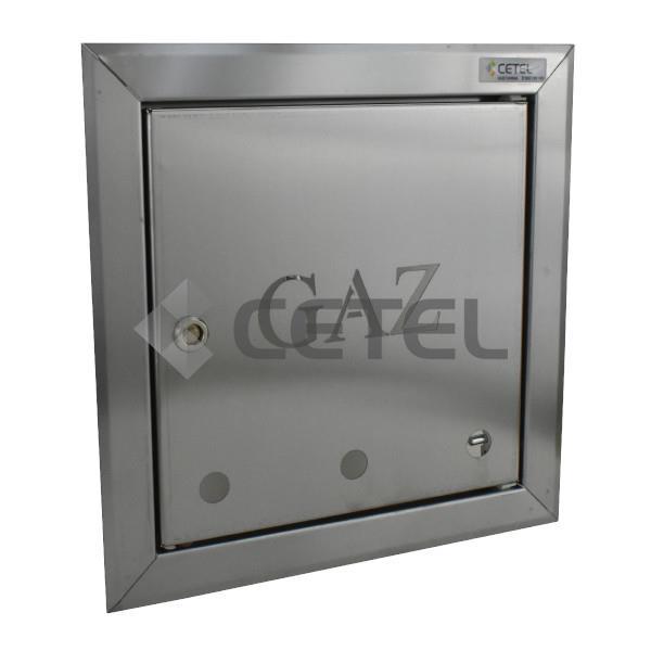 Bardzo dobryFantastyczny Drzwi do zaworu gazowego z ramką 250 x 250 mm stal nierdzewna KQ86